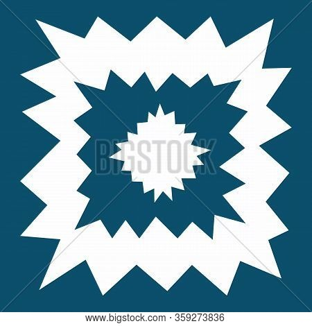 Starry Modern Square Tile, Geometry Shapes In Cold Tone. Irregular Shapes On Blue Background. Keen I