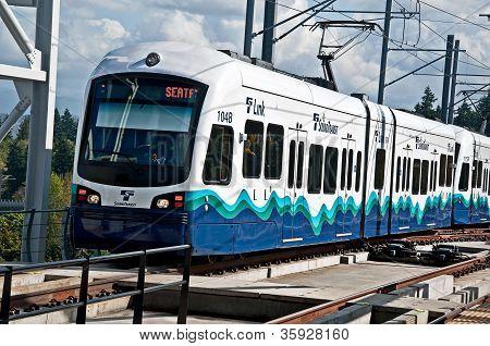 Seattle, Wa - July 17 - Link Light Rail Transport 3Rd Year Success