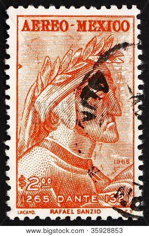 Postage stamp Mexico 1965 Dante by Raphael, Fresco