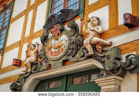 Potsdam, Brandenburg, Germany - April 12, 2018: Historic Building