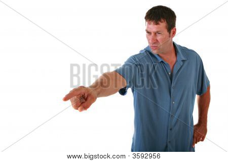 Angry Man Pointing Image Photo Free Trial Bigstock
