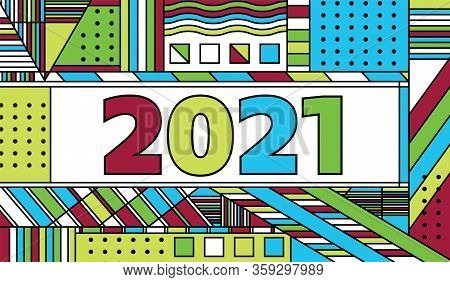 The Year 2021 Concept Background Illustration