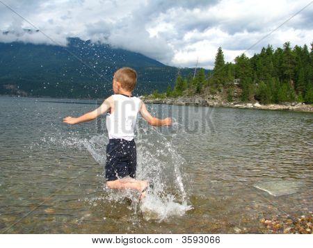 Boy Gets Wet