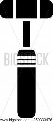 Black Neurology Reflex Hammer Icon Isolated On White Background. Vector Illustration