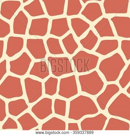 Giraffe Skin Seamless Pattern. Safari Collection. Animal Skin. Africa Abstract Pattern For Design.