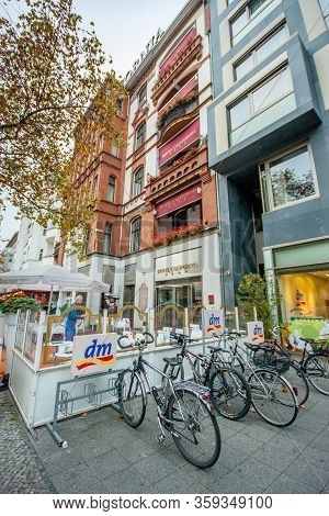 Berlin, Germany - November 12, 2014: Entrance To Four Star Hotel California On The Famous Shopping S