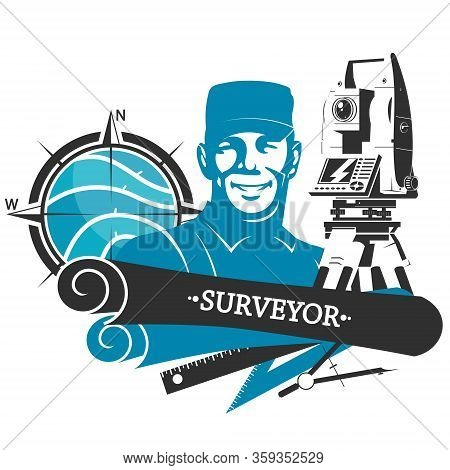 Engineering Surveying And Registration Of Land Geodetic Device Symbol For Business