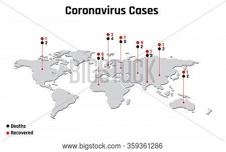 Coronavirus 2019-nc0v Outbreak, Travel Alert Concept. The Virus Attacks The Respiratory Tract, Pande