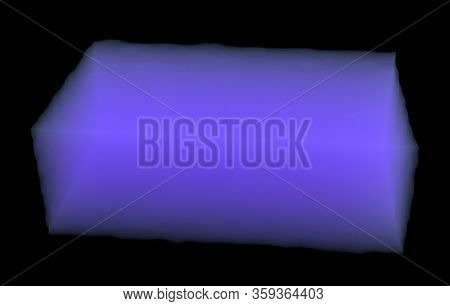 Silica Aerogel Material Isolated On Black. 3d Rendering