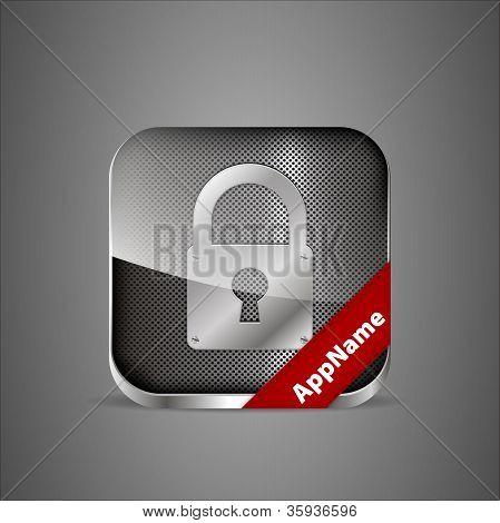 Vector Lock App Icon.