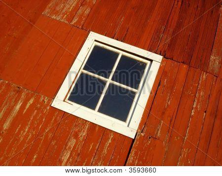 Red Barn Window