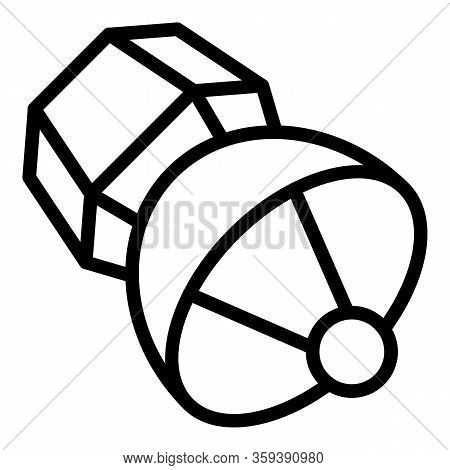 Orbit Satellite Icon. Outline Orbit Satellite Vector Icon For Web Design Isolated On White Backgroun