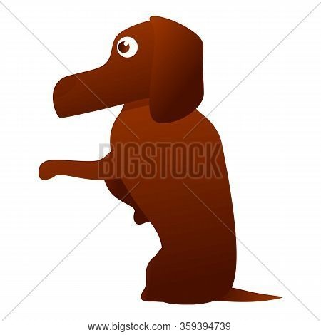 Dachshund Icon. Cartoon Of Dachshund Vector Icon For Web Design Isolated On White Background