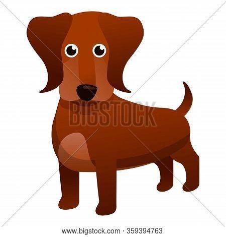 Dachshund Dog Icon. Cartoon Of Dachshund Dog Vector Icon For Web Design Isolated On White Background