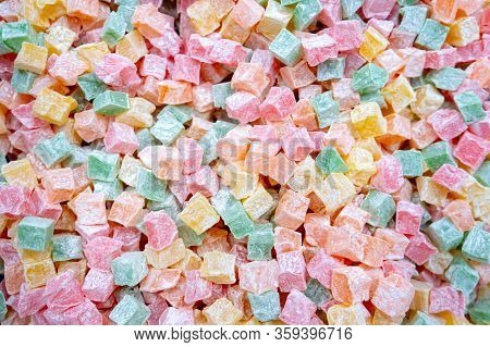 Famous Turkish Delight Lokum With Different Color
