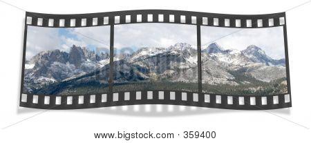 ritter range film strip pano, sierra nevada, ca, usa poster