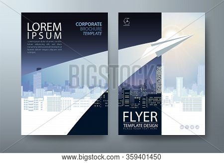 Annual Report Brochure Flyer Design Template Vector, Leaflet Presentation Abstract Flat Background,