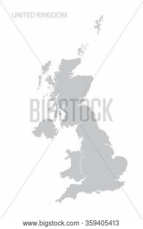 Map Of United Kingdom Isolated On White Background. Vector Template.
