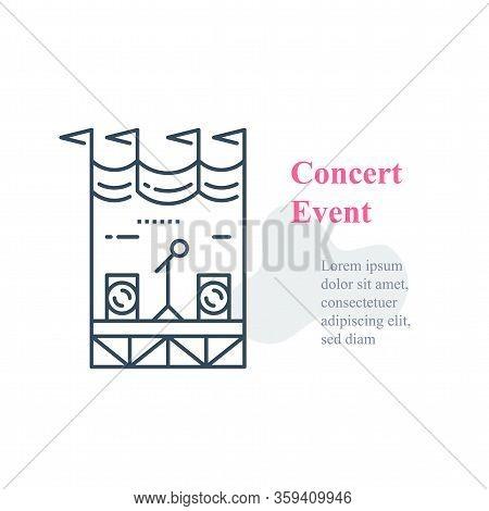 Concert Stage, Public Event Organizing, Local Music Festival, Public Performance, Entertainment Show
