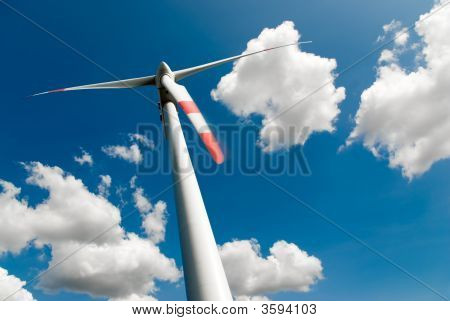 Wind Turbine And Clouds