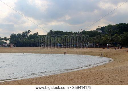 Sentosa, Sg - Oct. 19: Palawan Beach On October 19, 2016 In Sentosa, Singapore. Palawan Beach Lies I