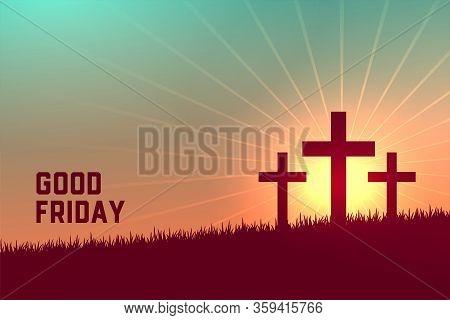 Three Crosses Scene For Good Friday Event