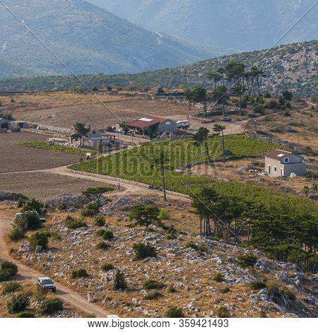 Hvar, Croatia - Circa September 2016: Beautiful View From The Top Of Sveti Nikola Highest On The Isl