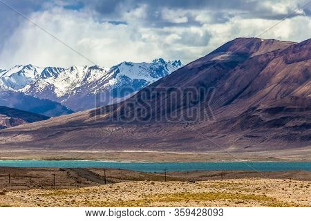 Beautiful View Of  Sasykkul Lake In Pamir In Tajikistan