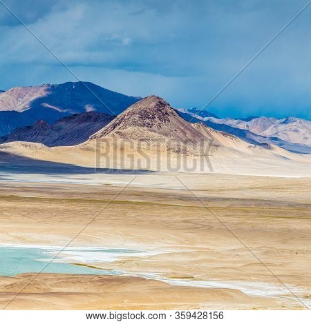 Beautiful View Of  Pamir Mountains In Tajikistan