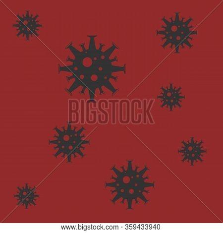 Coronavirus Vector Icon. Infographic Element . Virus Cell Icon. Corona Virus Sign Icon. Wuhan Pneumo