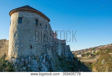 Trsat Castle In Trsat In The Coastal City Of Rijeka In Primorje-gorski Kotar, Croatia. Originally Co
