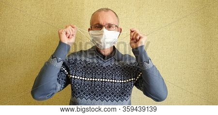 A Man In A Medical Mask. Pandemic. Coronavirus.covid-19