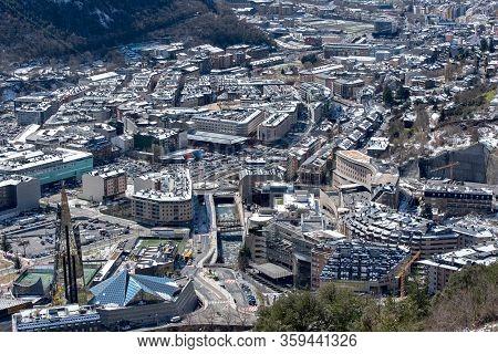 Andorra La Vella : 2020 Feb 14 : Cityscape In Winter Of Andorra La Vella, Andorra.