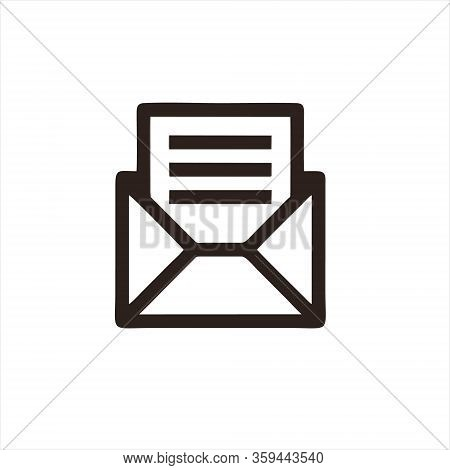 Envelope Icon Isolated On White Background. Envelope Icon In Trendy Design Style For Web Site And Mo
