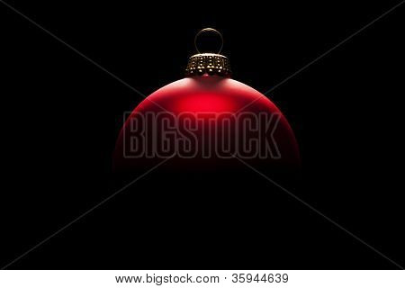red christmas ball in tense light