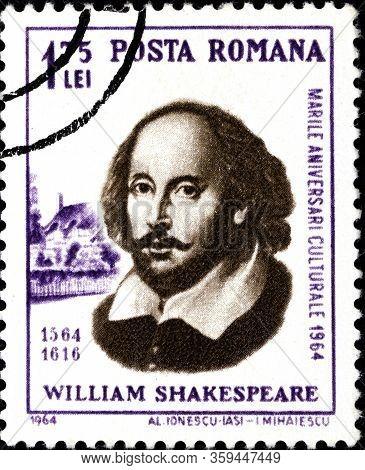02.09.2020 Divnoe Stavropol Territory Russia The Postage Stamp Romania 1964 Personalities William Sh