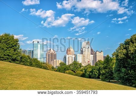 Midtown Atlanta Skyline From The Park
