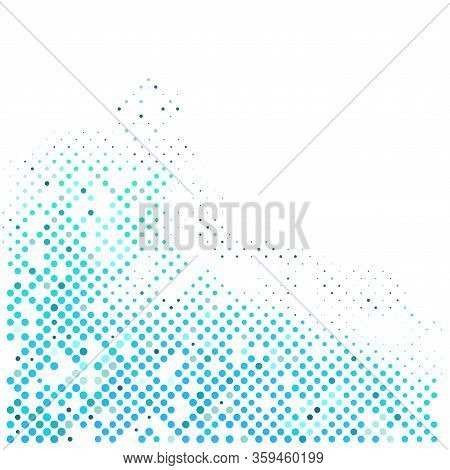 Business Blue Halt Tone On White Background. Pattern For Business Template.