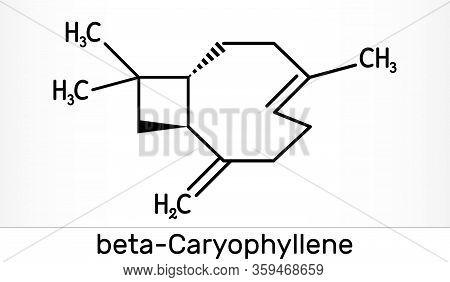 Caryophyllene, Beta-caryophyllene, C15h24 Molecule. It Is Natural Bicyclic Sesquiterpene That Is A C