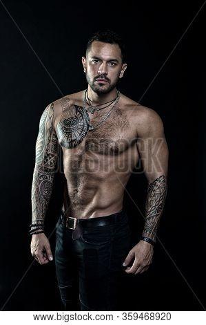 Great Progress. Bodybuilding Sport Concept. Hispanic Appearance Male Model. Training In Fitness Gym.