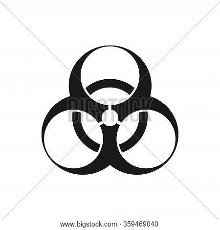 Emblem - Bio-hazard. Symmetric On A White Background