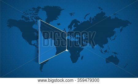 Detailed World Map With Pinned Enlarged Map Of Sao Tome And Principe And Neighboring Countries. Sao