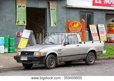 Villarrica, Chile - November 20, 2015: Small Pickup Truck Chevrolet Chevy 500 In The City Street.