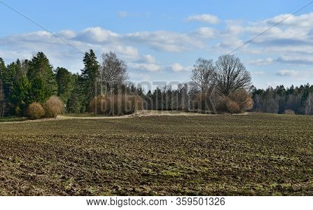 View Of The Coming Spring Landscape, Southern Bohemia, Czech Republic