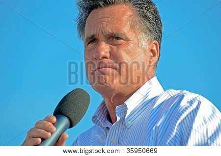 Mitt Romney giving a speech