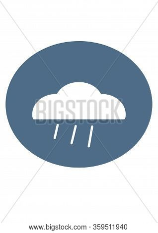 Rain With A Cloud Sign. Bad Weather. Weather Icon For Web.