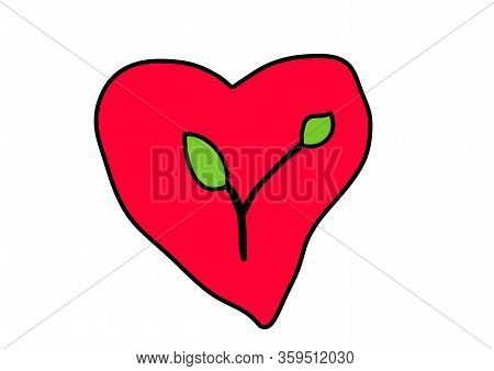 Eco Sign. Love For The Environment. Illustration For Companies Interested In Eco Conception. World E