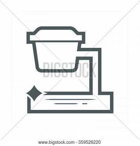 Grease Trap Vector Icon Design And Water Drainage.