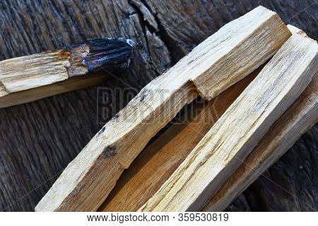 A Close Up Image Of Palo Santo Smudge Sticks Used For Energy Clearing And Healing.