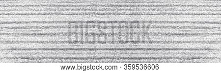 Corrugated Silver Foil Wide Texture. Abstract Shiny Widescreen Background